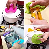 Daixers 4pcs Extra Thick Silicone Trivet Mat, Hot Pads Slip Silicone Insulation Mat For Home Use