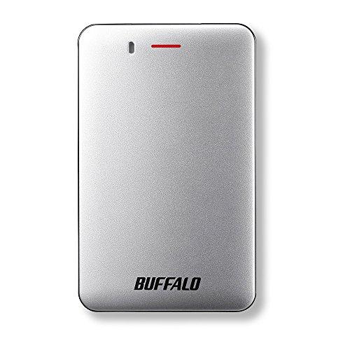 BUFFALO USB3.1(Gen1) 小型ポータブルSSD 480GB シルバー SSD-PM480U3-S