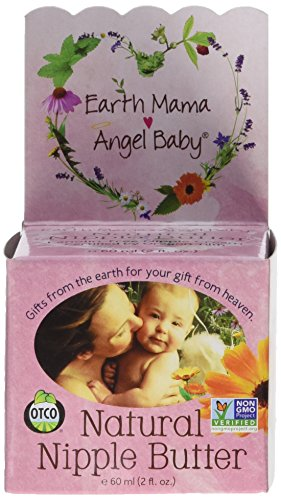 Earth Mama Angel Baby Natural Nipple Butter, 2-Ounce Jar (Pack of 3)