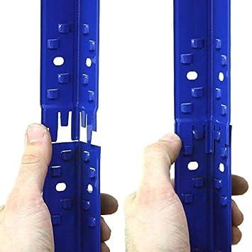 steckregal luana 250bf kellerregal mit 5 b den 120 cm breit 50 cm tief blau dc38. Black Bedroom Furniture Sets. Home Design Ideas