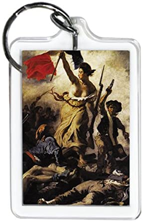 "Liberty Leading the People ~ Eugène Delacroix Keychain ~ 1.5"" X 2.5"""