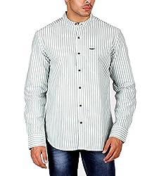 US Polo Assn. Men's Regular Fit Cotton Shirt (USSH3401_Off-White_L)