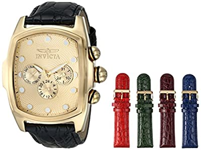 Invicta Men's 1028 Lupah Gold Tone Textured Dial Watch