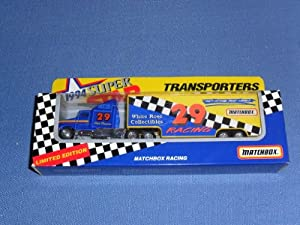 1994 NASCAR Matchbox Superstars . . . Phil Parsons #29 Matchbox Racing Team . . . 1/87 Scale Transporter Diecast . . . Series II . . . Limited Edition