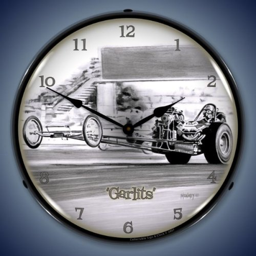 Don Garlits Drag Racing Lighted Wall Clock