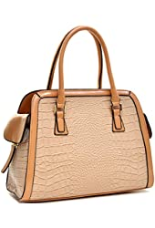 Dasein Croco Textured Fin Laptop, Tablet, Ipad Bag Satchel Briefcase Shoulder Bag Handbag Purse