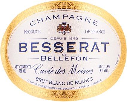 Cuvee des Moines Brut Blanc de Blancs N.V. Besserat de Bellefon  Champagne 750 mL