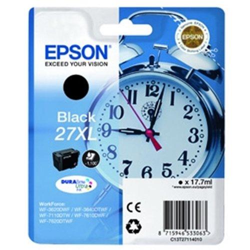 Epson T2711 Wecker, wisch- und wasserfeste Tinte XL (Singlepack) schwarz