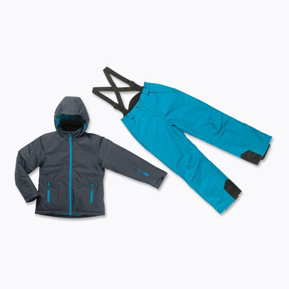 Skianzug 2tlg. Funktioneller Skianzug Für Mädchen Gr. 140 Farbe. Grau/blau Schneeanzug Thinsulate Skijacke online kaufen