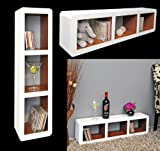 Large XXL lounge cube trend shelf board on the wall shelf of the hanging shelf years retro design grey white with 70 there veena round 85 cm x 22 cm