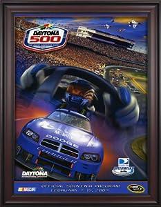 NASCAR Framed 36 x 48 Daytona 500 Program Print Race Year: 51st Annual - 2009 by Mounted Memories