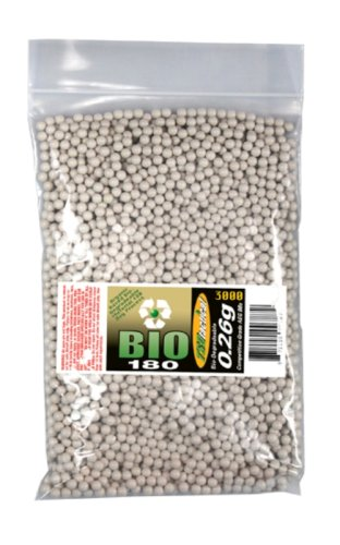TSD Tactical 3,000 ct. Bag Biodegradeable White Airsoft BBs (6mm, 0.26g)