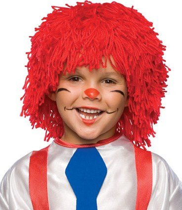 Child's Toddler Rag Doll Costume Wig