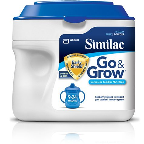 Similac Go & Grow Infant Formula, Milk-Based, with Iron, Powder, 9-24 Months, 1.37 lb.