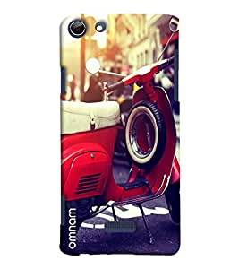 Omnam Vintage Scooter With Tyre Printed Designer Back Cover Case For Micromax Selfie 3 Q348