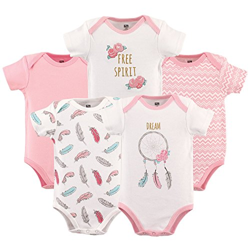 Hudson Baby 5-Pack Hanging Bodysuit, Dream Catcher, 9-12 Months