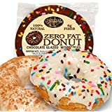Simply Scrumptous Fat Free Vanilla Glazed Donuts with Sprinkles