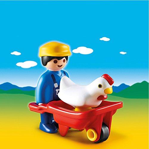 PLAYMOBIL Farmer with Wheelbarrow Set - 1