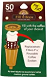 Economy Kitchen Accessory Fill N Brew K-Cup Filters 50 Count