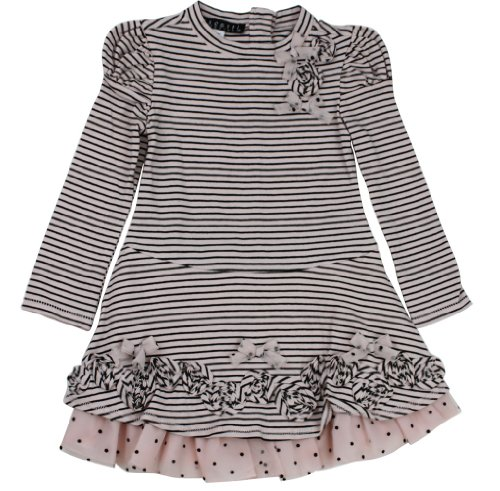 Hot Deal New Kate Mack Dress- Pink& Black Striped (2T)