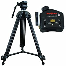 Varizoom VZTK75A-STEALTHPZF Tripod and Lens Controller (Black)