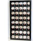 40 Baseball Arcylic Cubes Display Case Cabinet Holders Rack w  UV Protection, Black by sfDisplay