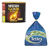 Nescafe Gold Blend 500g Coffee + Tetley 440 Tea Bags MULTI-PACK SPECIAL