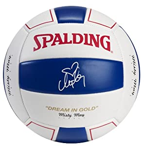 Buy Spalding Misty May Red White Blue - Smooth EVA Volleyball by Spalding