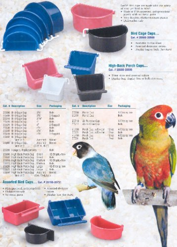 Image of Bulk High-Back Perch Cup - Assorted - Small (B0002AQ0K2)