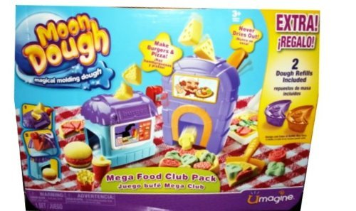 Moon Dough - Mega Food Club Pack - Extra! Includes 2 Dough Refills - Magical Molding Dough