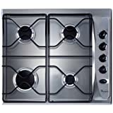 Whirlpool AKM260 Built In Gas Hob in Stainless Steel 4 gas burners