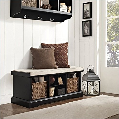 Crosley Furniture Brennan Entryway Storage Bench - Black (Country Storage Bench compare prices)