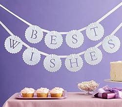 Martha Stewart Crafts Banner, White Best Wishes