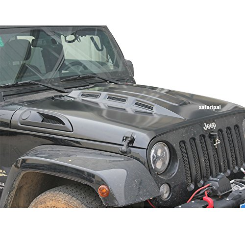 Safaripal Revenge Style Heat Reduction Jeep Wrangler JK Black Hood