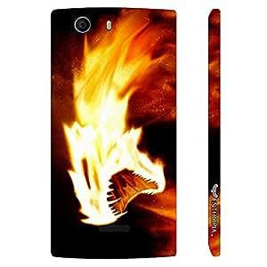 Micromax Canvas Nitro 2 E311 Firey Killer Instinct designer mobile hard shell case by Enthopia