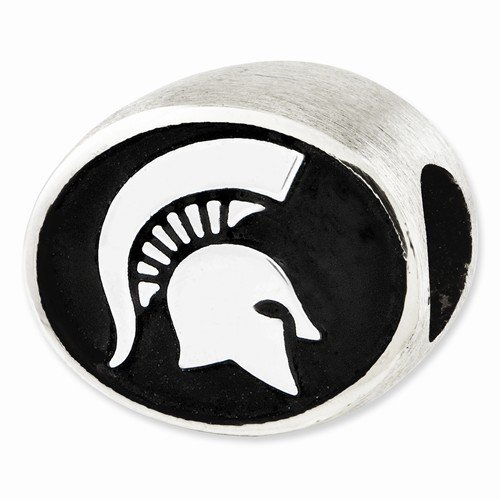 Officially Licensed Sterling Silver Michigan State University Collegiate Charm Bracelet Bead