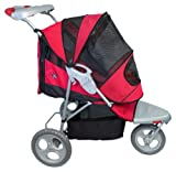 Pet Gear AT3 All-Terrain Pet Stroller for cats and dogs up to 60-pounds, Red Poppy