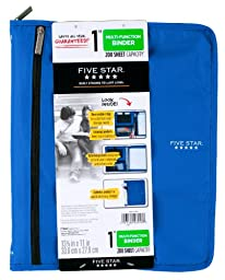 Five Star Customizable Binder with Removable Fixture, 1-Inch, Blue (72983)