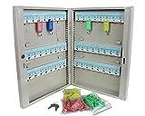 Schlüsselkasten Schlüsselschrank inkl.48 Schlüsselanhänger Stahl
