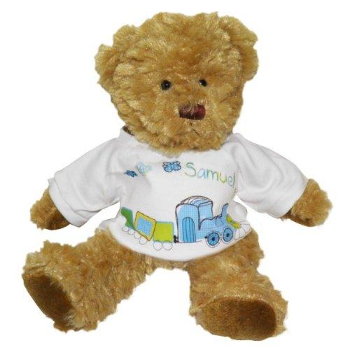 Personalised train teddy bear