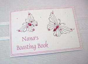 White Cotton Cards - Álbum de fotos del bebé para la abuela, diseño de mariposa, color rosa