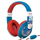 Avengers Captain America Over Ear Headphones with Volume Control, MC-M402