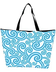 Snoogg Abstract Blue Pattern 1 Designer Waterproof Bag Made Of High Strength Nylon