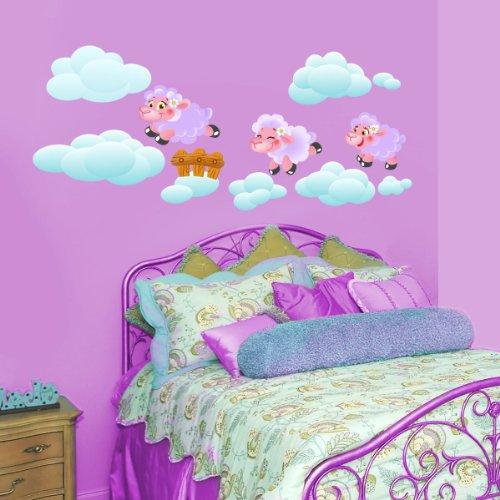 Jumping Violet Lambs -Adesivi Murali -Wall Stickers per la decorazione della casa e della cameretta