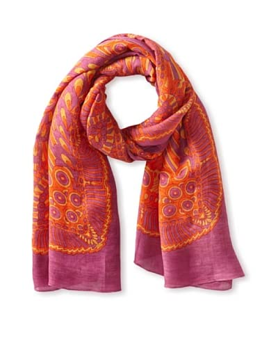 Theodora & Callum Women's Tonga Tie-All Scarf/Pareo, Pink Multi