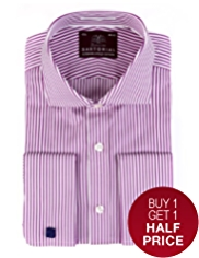 Sartorial Luxury Pure Cotton Satin Striped Shirt
