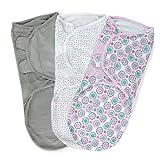 Summer Infant SwaddleMe Adjustable Infant Wrap, Geo Floral, Large, 3 Count