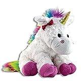 The Petting Zoo Plush Rainbow Unicorn - 10 Inches (Color: Multi, Tamaño: 10 inches)