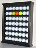 49 Golf Ball Display Case Cabinet Holder Rack w/ UV Protection, GB49-BL