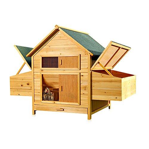 xxl h hnerstall h hnerhaus kaninchenk fig hasenstall. Black Bedroom Furniture Sets. Home Design Ideas